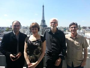 Initiative co-organisers (from left): Raymond Reau, Irene Vänninen, Frank Wijnands and Marco Barzman